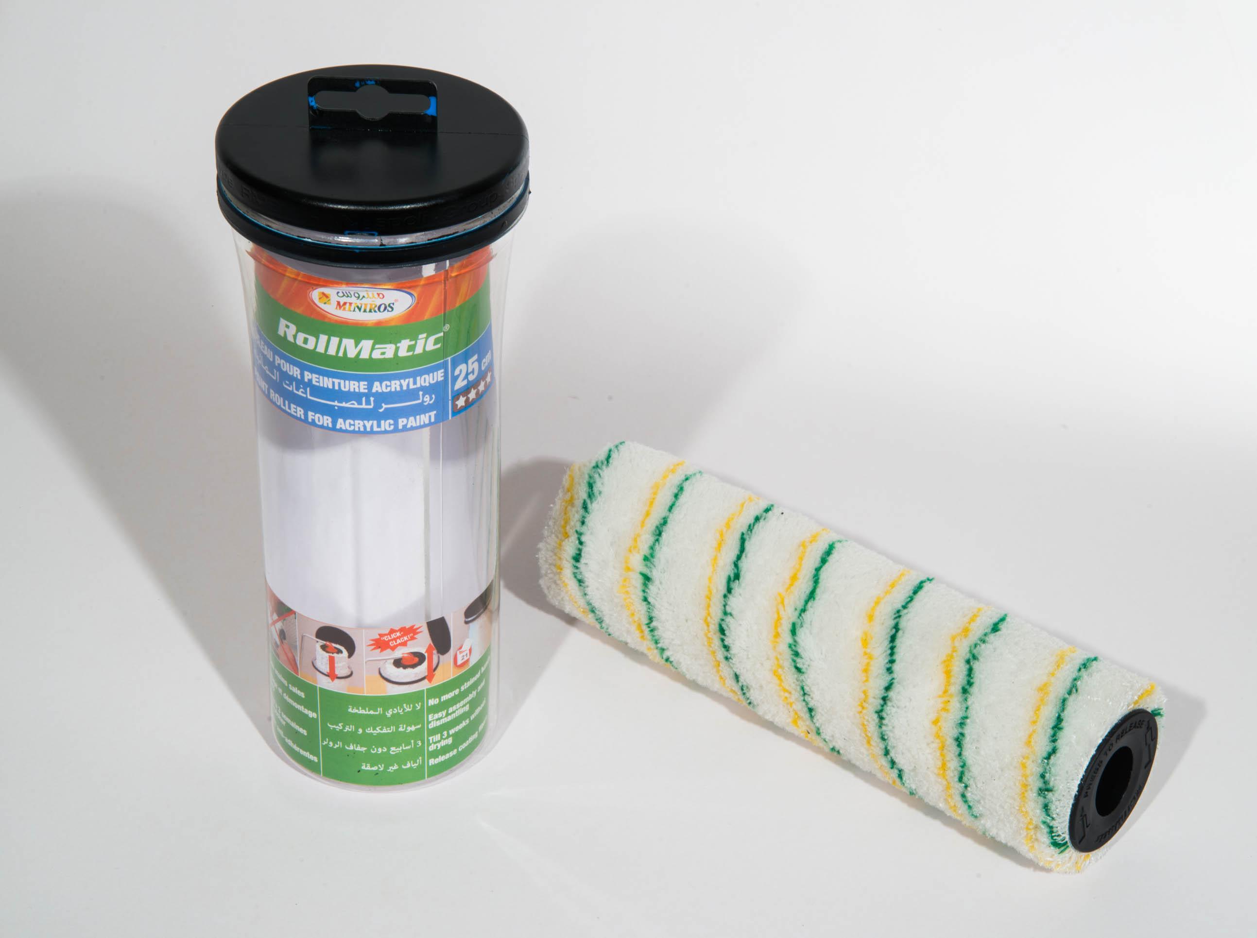 rollmatic rouleau pour peinture acrylique 25cm miniros sarl. Black Bedroom Furniture Sets. Home Design Ideas