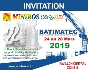 INVITATION batimatec miniros 2019