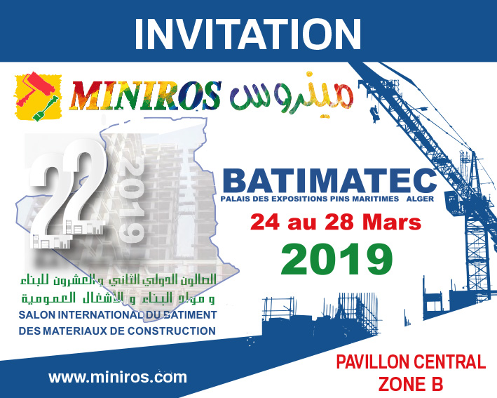 INVITATION batimatec miniros 2019